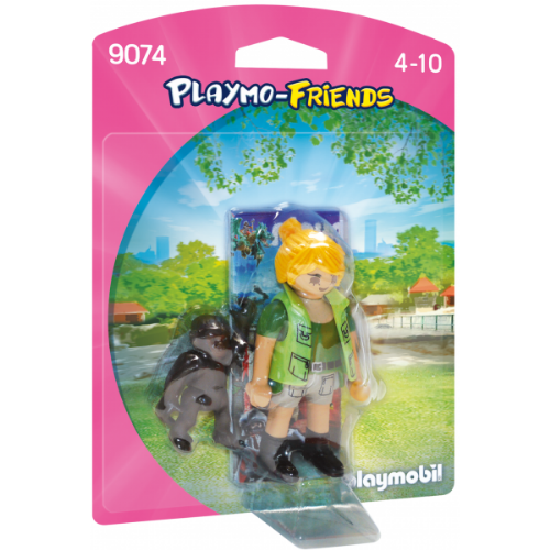 Playmobil 9074 Playmo-Friends Zookeeper with Baby Gorilla